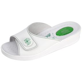 SANITAL LIGHT Damen Leder-Pantolette, weiß