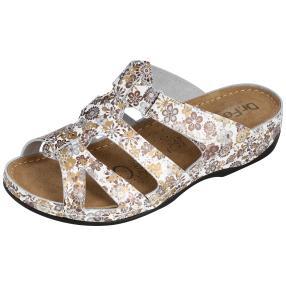 Dr. Feet Damen Leder-Pantolette, weiß