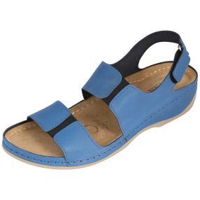Dr. Feet Damen Ledersandaletten, blau
