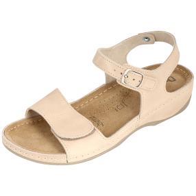 Dr. Feet Damen Ledersandaletten, beige