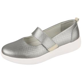 SANITAL LIGHT Damen Lederslipper, grau