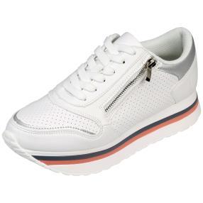 Damen Plateau-Sneaker, weiß