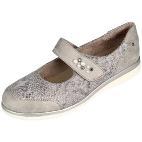 Relife® Damen-Klett-Slipper, taupe