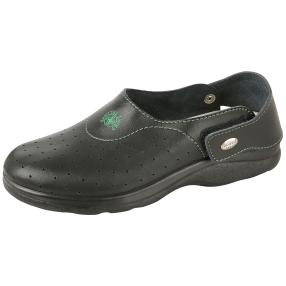 SANITAL LIGHT Herren Lederslipper, schwarz