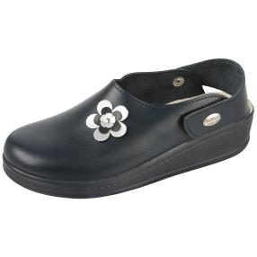 SANITAL LIGHT Damen Lederslipper, Blume