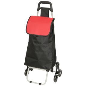 Treppen-Einkaufstrolley, schwarz/rot