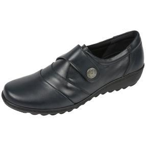 Dr. Feet Nappaleder Damen-Slipper, dunkelblau