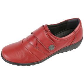 Dr. Feet Nappaleder Damen-Slipper, rot glatt