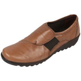 Dr. Feet Nappaleder Damen-Slipper, mittelbraun
