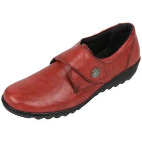Dr. Feet Nappaleder Damen-Slipper, weinrot crinkle