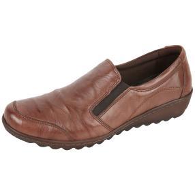 Dr. Feet Nappaleder Damen-Slipper, dunkelbraun