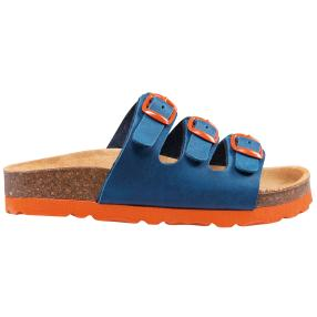 LICO Kinder-Pantoletten Bioline, marine/orange