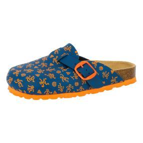 LICO Kinder-Pantoletten Bioline Clog, blau/orange