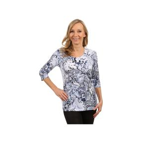 Rössler Selection Damen-Shirt Rundhals Paisley