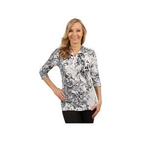Rössler Selection Damen-Shirt Poloshirt Paisley