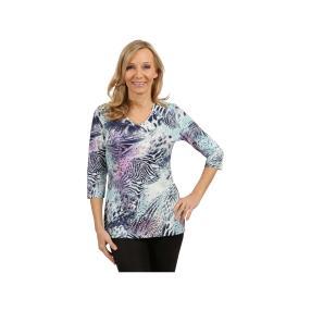 Rössler Selection Damen-Shirt blau/lila/weiß