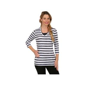 Rössler Selection Damen-Shirt weiß/dunkelblau