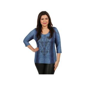 Rössler Selection Damen-Shirt Rundhals, Jeans