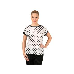 TOM CROWN Damen-Shirt, Tupfen