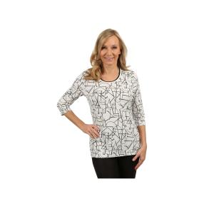 Rössler Selection Damen-Shirt Rundhals weiß