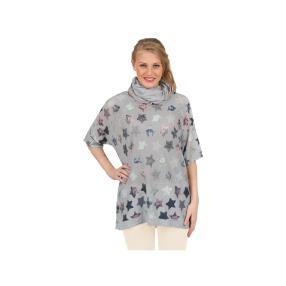 """Damen-Shirt """"Stella"""" mit passendem Tuch in grau"""