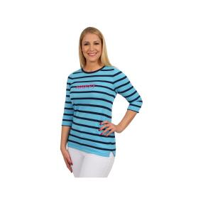 "Lovely Colours Damen-Pullover ""Happy"", blau"