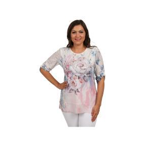 "Damen Tunika ""Made in Italy"" Blumen & Strass"