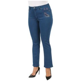 Jet-Line Damen-Premium-Jeans Colorful Butterflies