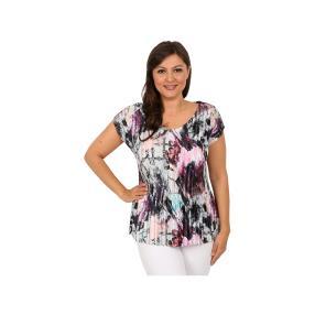 "Jeannie Damen-Plissee-Shirt ""Potpurri"""