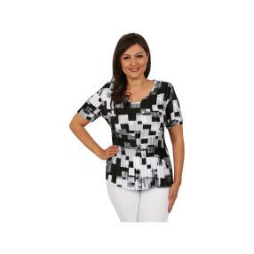 """Jeannie Damen-Plissee-Shirt """"Jet-Black"""""""