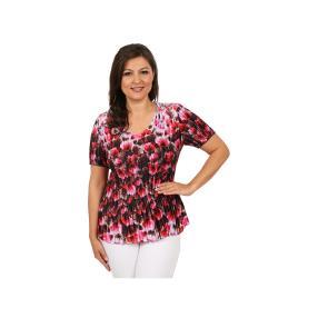 "Jeannie Damen-Plissee-Shirt ""Mer de Fleurs"""