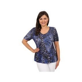 "Jeannie Damen-Plissee-Shirt ""Cool Blue"""