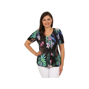 """Jeannie Damen-Plissee-Shirt """"Tropical Garden"""""""