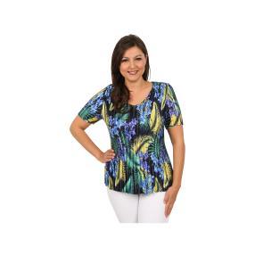 "Jeannie Damen-Plissee-Shirt ""Lemon Flame"""