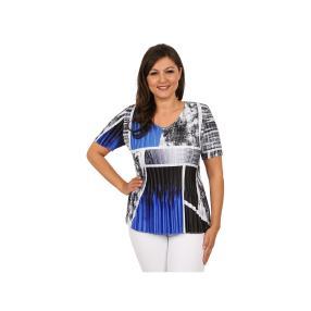 """Jeannie Damen-Plissee-Shirt """"Vista Blue"""""""