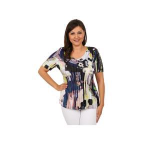 "Jeannie Damen-Plissee-Shirt ""Sunny Side"""