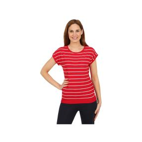 """Leichter Damen-Pullover """"Sail Away!"""", rot/weiß"""