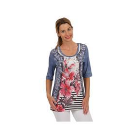 "BRILLIANT SHIRTS Shirt ""Denim&Lillies"", multicolor"