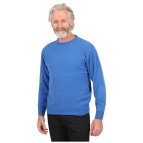Cashmerelike Herren-Pullover, Rundhals blau