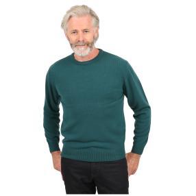 Cashmerelike Herren-Pullover, Rundhals dunkelgrün