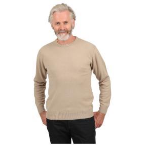 Cashmerelike Herren-Pullover, Rundhals beige