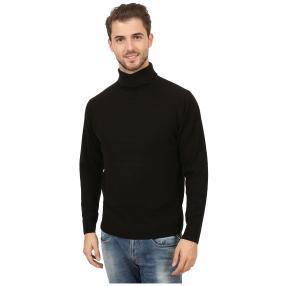 Cashmerelike Herren-Pullover, Rollkragen schwarz