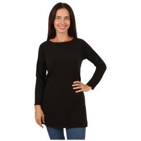 Cashmerelike Damen-Pullover, U-Boot schwarz
