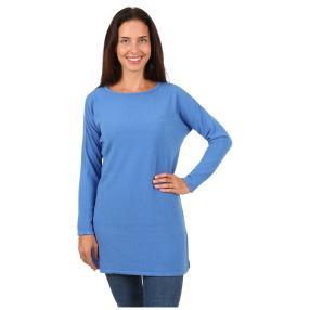 Cashmerelike Damen-Pullover, U-Boot blau