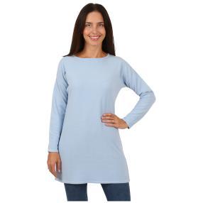 Cashmerelike Damen-Pullover, U-Boot koralle