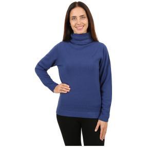 Cashmerelike Damen-Pullover Rollkragen marine