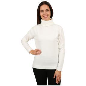Cashmerelike Damen-Pullover Rollkragen offwhite