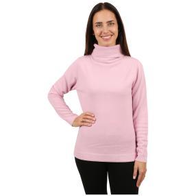 Cashmerelike Damen-Pullover Rollkragen rosa