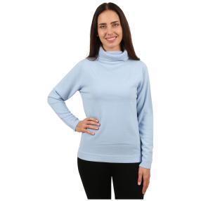 Cashmerelike Damen-Pullover Rollkragen hellblau