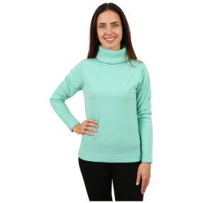 Cashmerelike Damen-Pullover Rollkragen mint